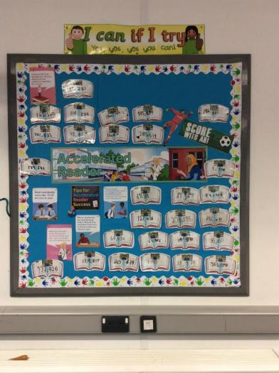 Accelerated Reader word count display. We're on our way to becoming Millionaire Readers.